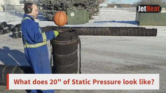 Why is static pressure crucial for a heater?