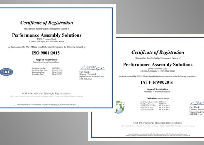 JetHeat Earns Safety and ISO 9001 Certification